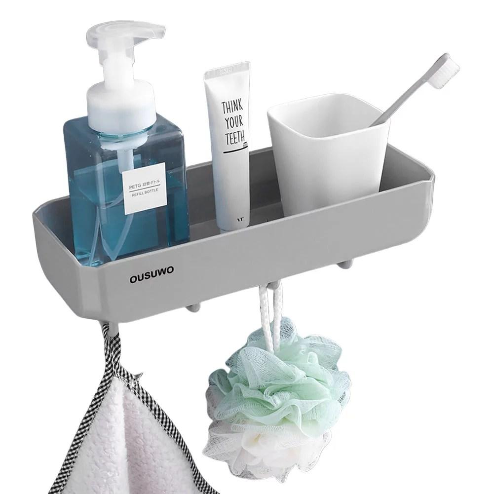 mersariphy wall mounted shower shelf basket with hooks hollow bathroom organizer aps shower rack