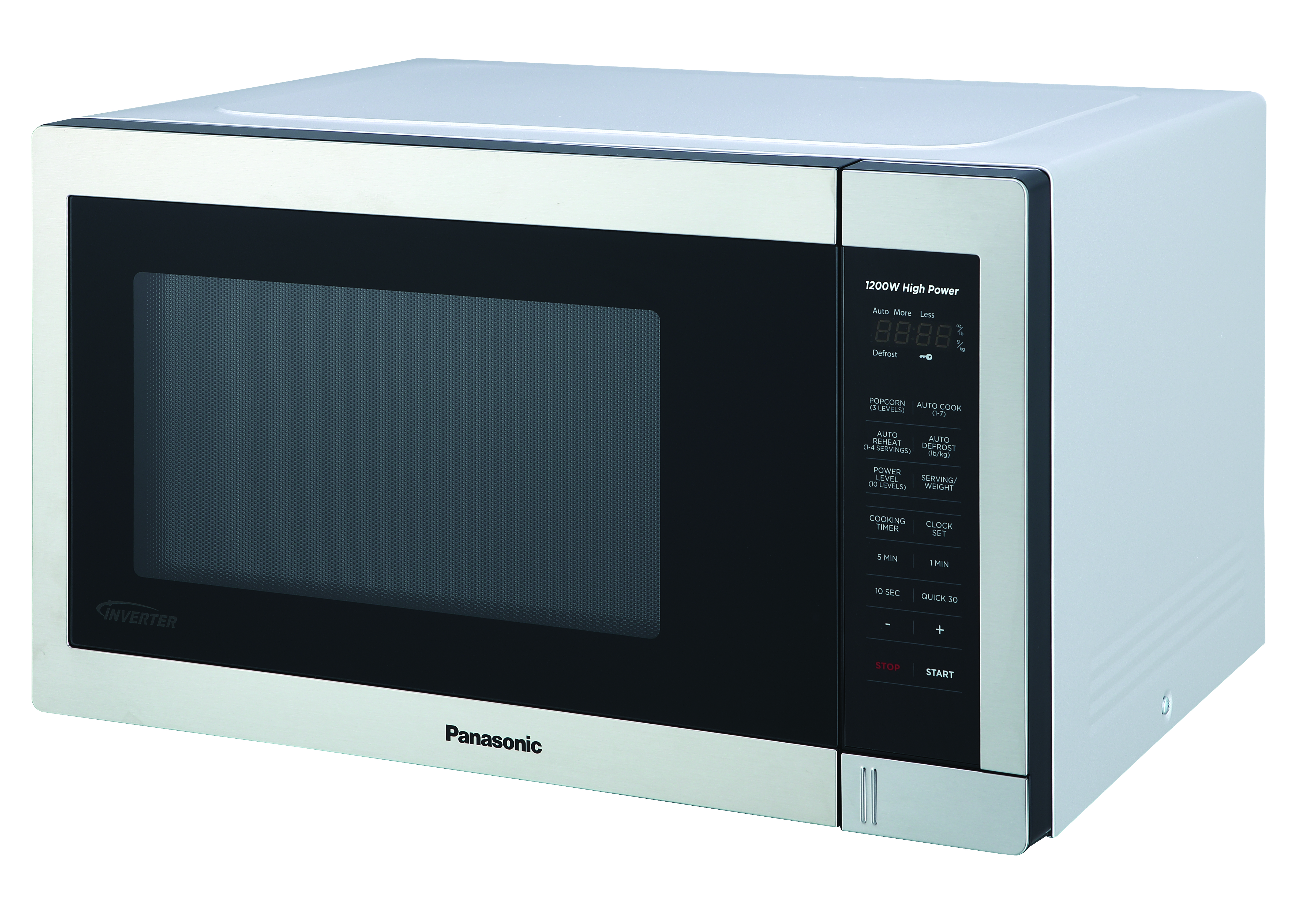 panasonic countertop microwave oven with easy clean interior and 1100 watts of cooking power nn sb658s 1 3 cu ft