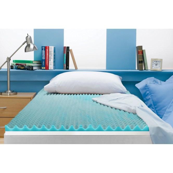 Twin Size 3 Inch Beautyrest Cooling Gel Memory Foam Topper Mattress New
