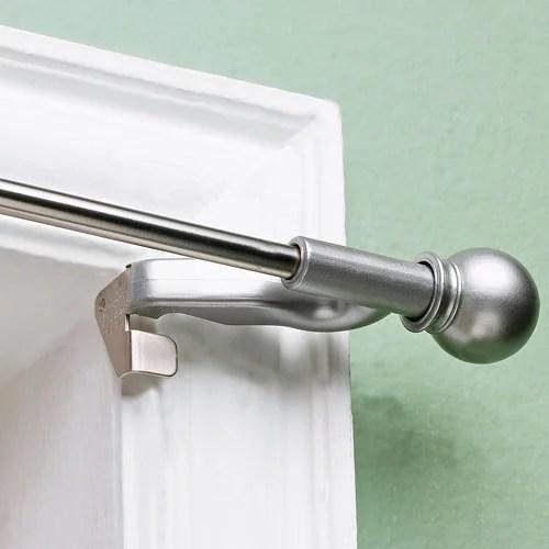 twist and fit decorative curtain rod satin nickel 7 16 rod diameter