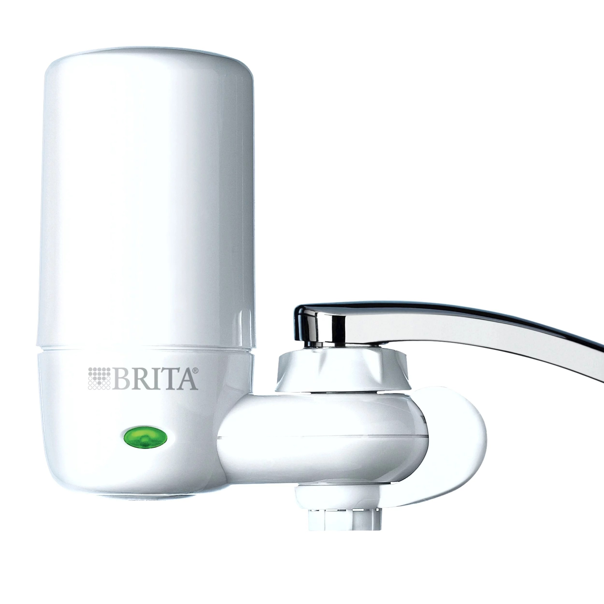 brita complete tap water faucet filtration system white