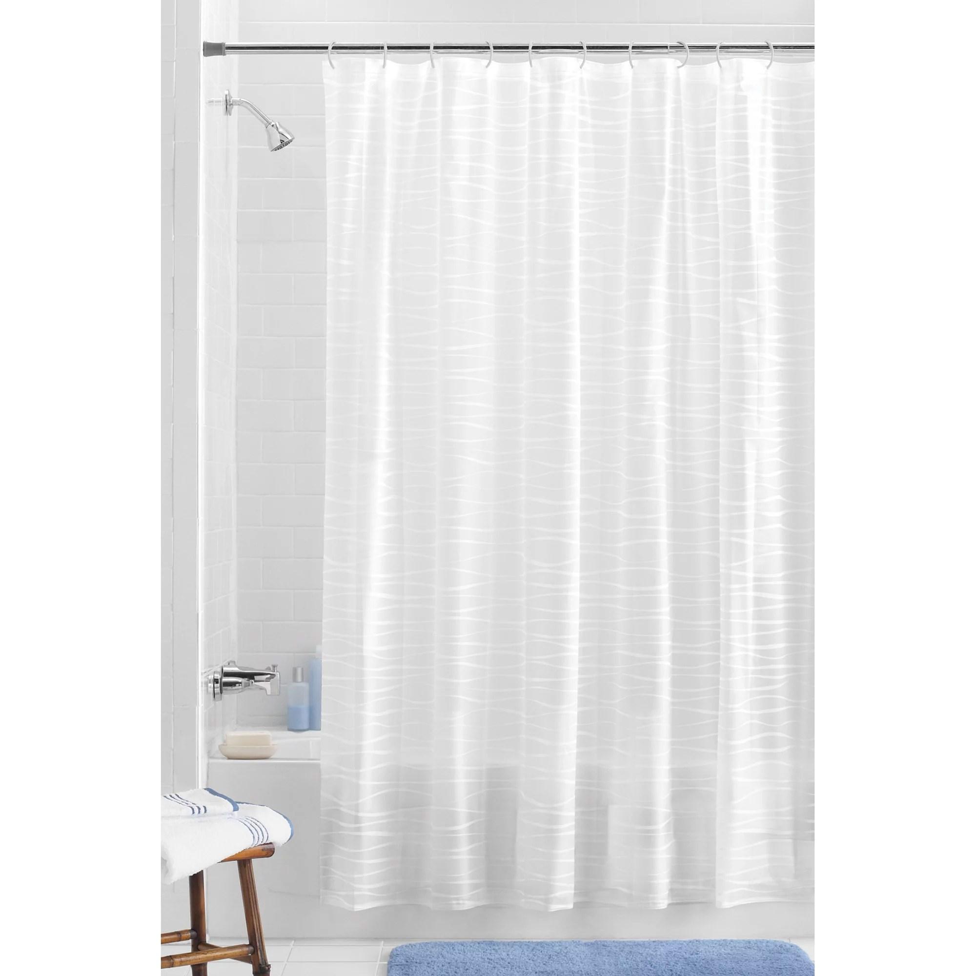 mainstays oasis peva white shower curtain 13 piece