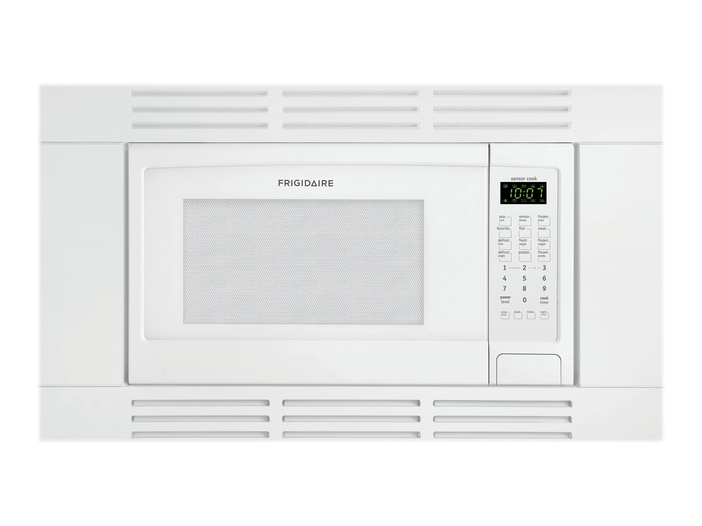 frigidaire ffmo1611lw microwave oven built in 1 6 cu ft 1100 w white with built in exhaust system