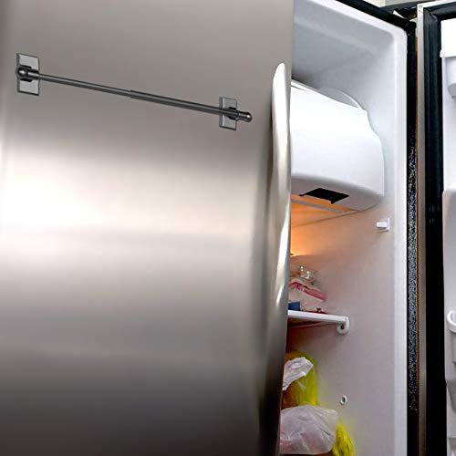 magnetic cafe rod multi use adjustable appliance magnetic rod 09 16 magnetic curtain rod black 4 pack