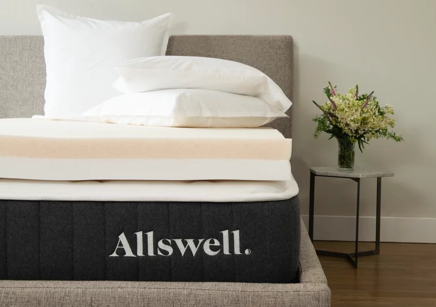 allswell 4 memory foam mattress topper infused with copper gel queen