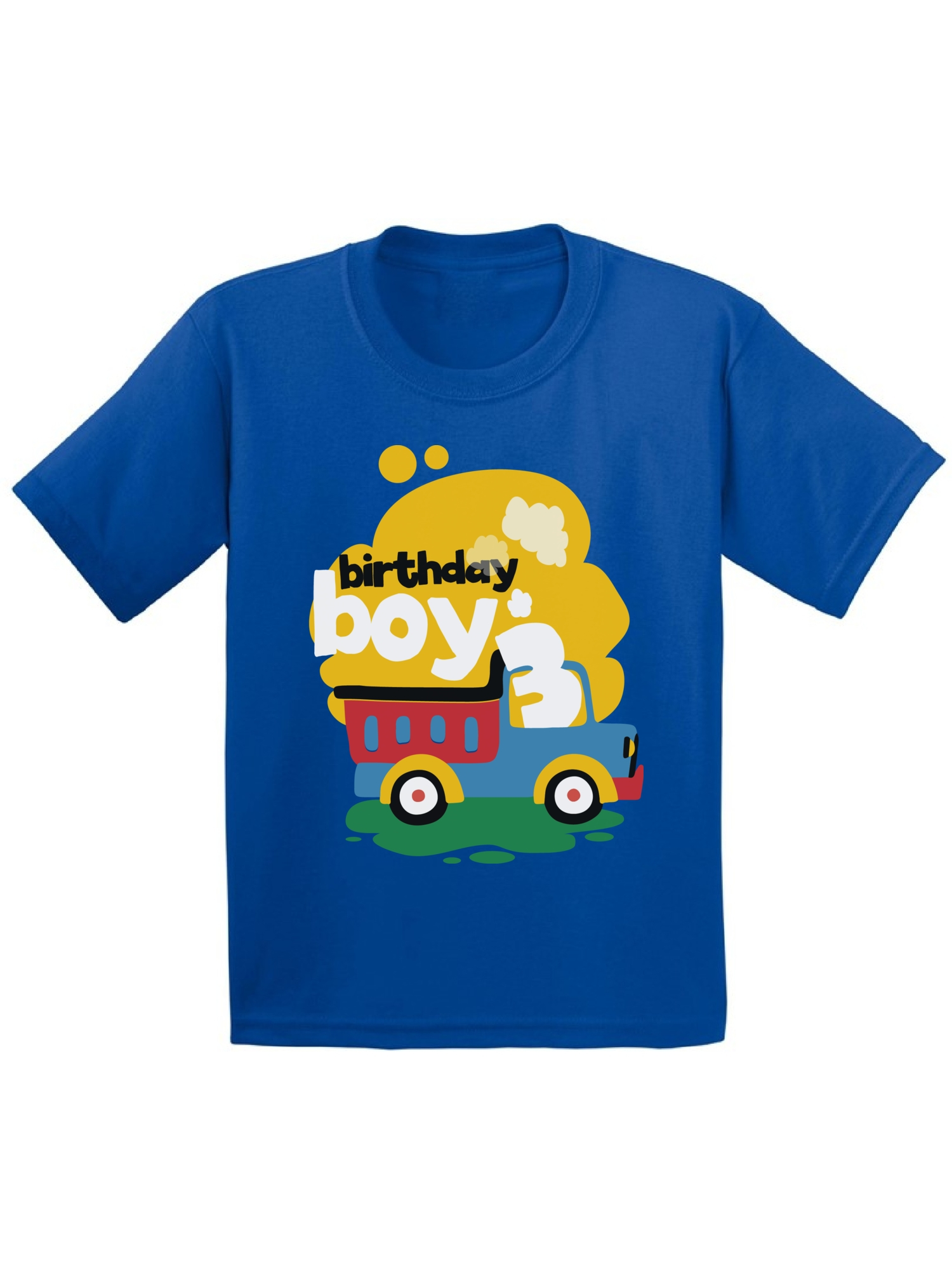 Awkward Styles Awkward Styles Toy Truck Birthday Boy Toddler Shirt 3rd Birthday Shirt For Toddler Boys Truck Themed Birthday Party Third Birthday Gifts For 3 Year Old Boy Cute Birthday Outfit