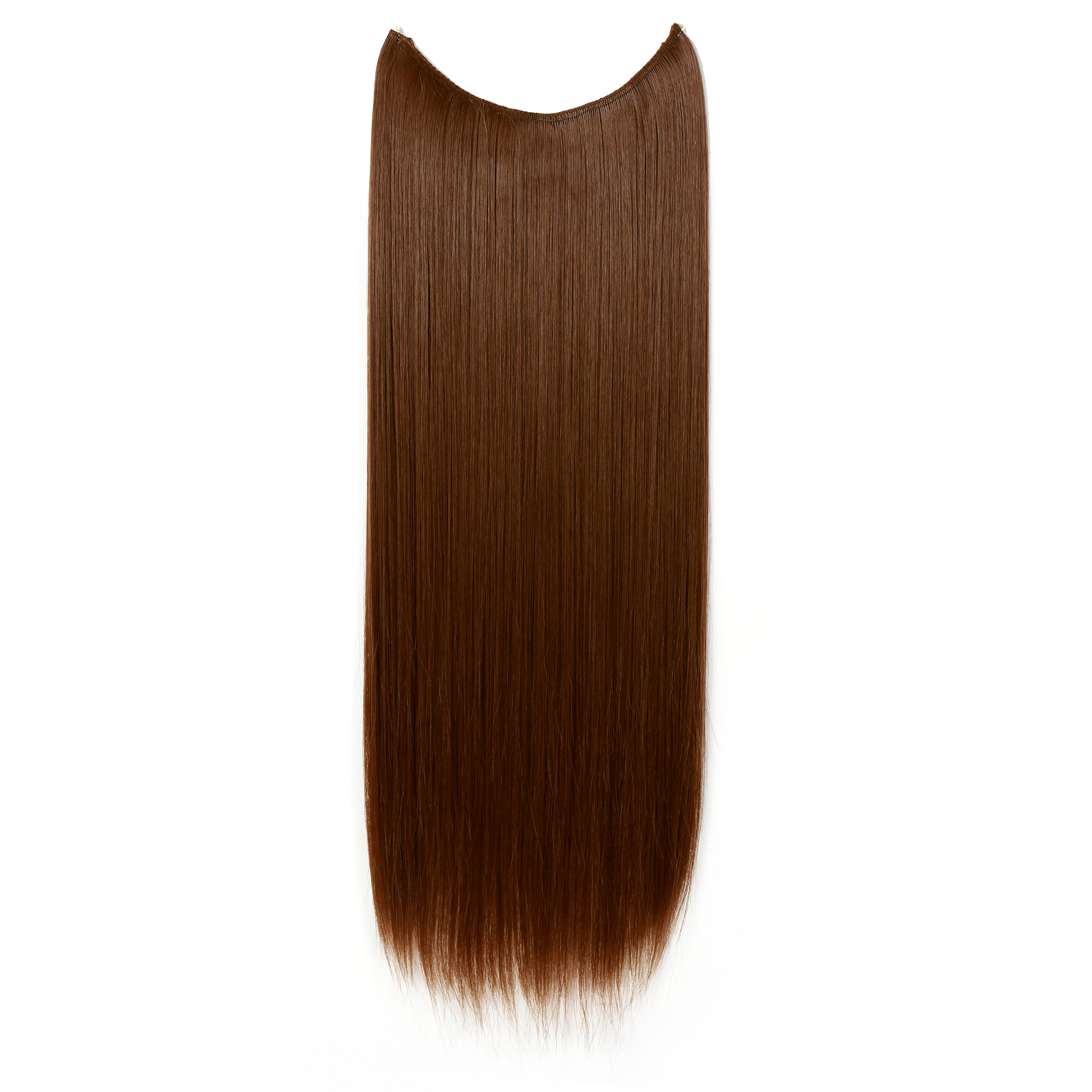Onedor 24 Straight Transparent Wire Hair Extensions Dark Brown 4 Walmart Com Walmart Com