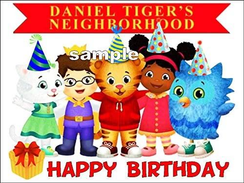 Daniel Tiger Neighborhood Image Happy Birthday Edible Cake Topper Sugar Frosting Sheet Walmart Com Walmart Com