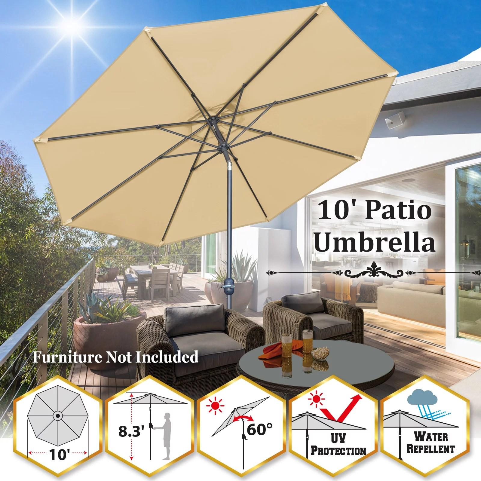 9 patio umbrella 8 ribs garden market