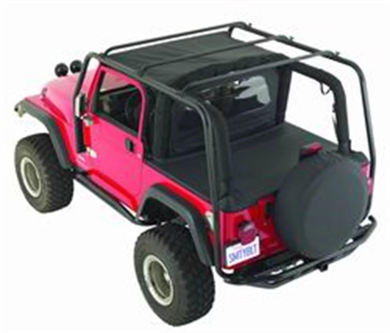 smittybilt 76717 src roof rack 300 lb rating black textured jeep 07 15 jk 4 door walmart com