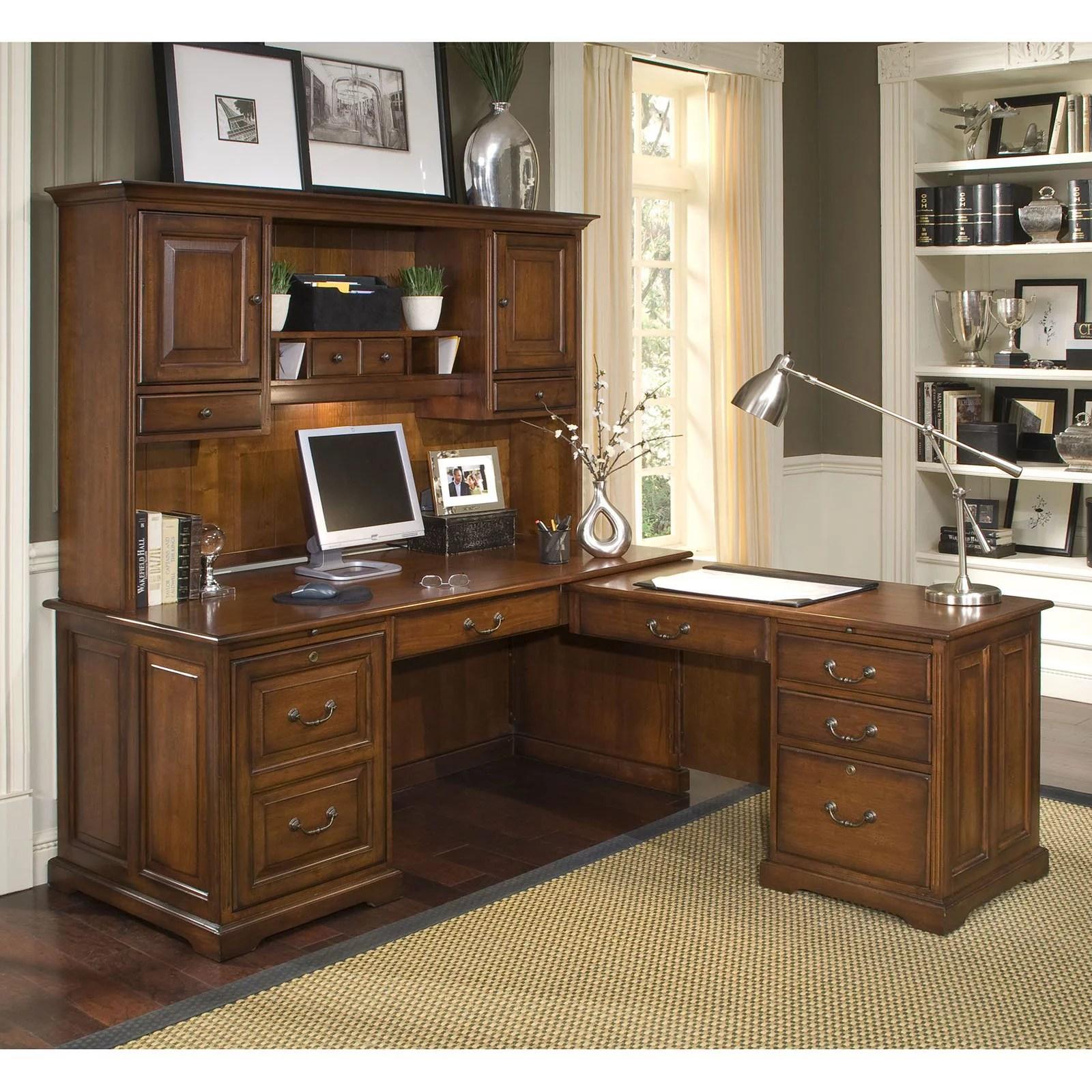 Riverside Cantata L Shaped Workstation Computer Desk