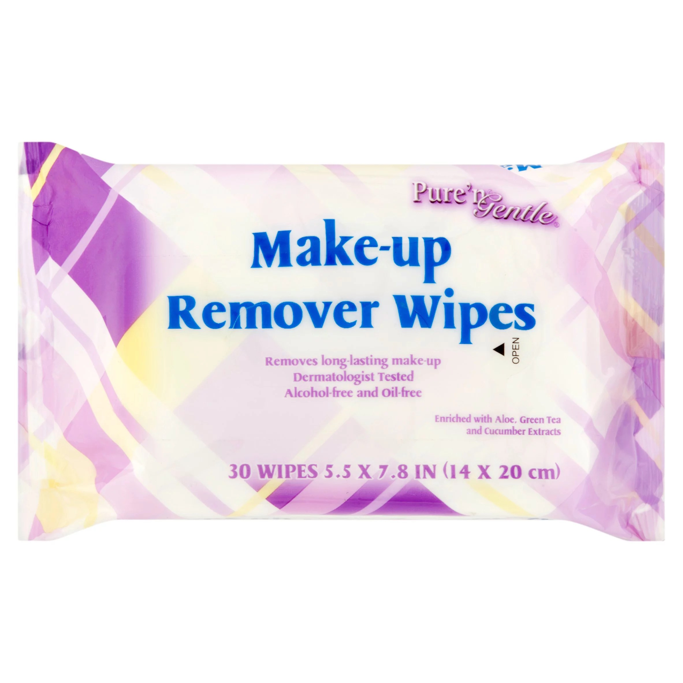 Puren Gentle Make Up Remover Wipes 30 Sheets