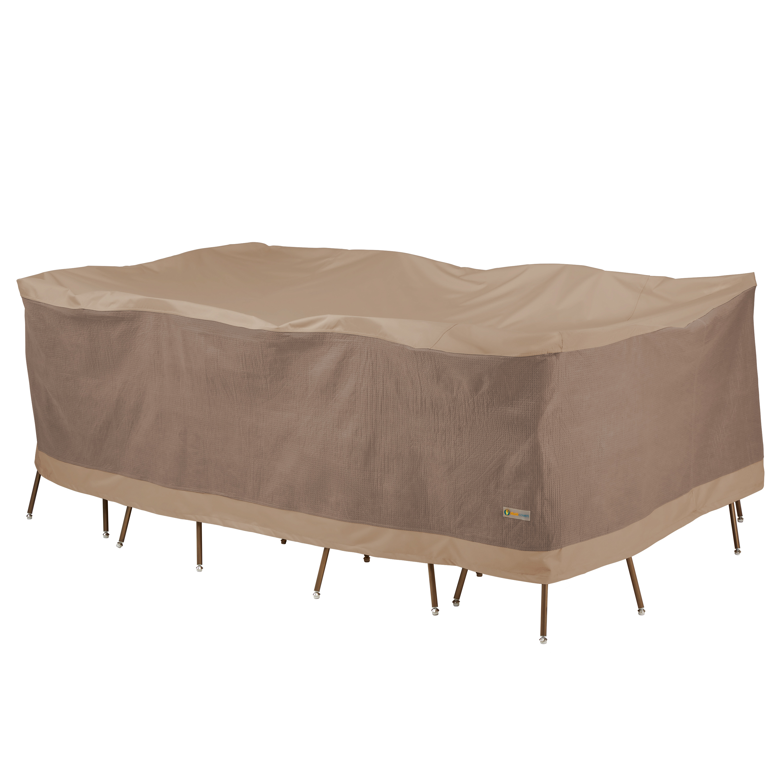 https www walmart com ip duck covers elegant waterproof 96 inch rectangular oval patio table chair set cover 55123618