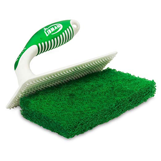 Tub Tile Scrub Bathtub Grout Joint Cleaning Scrubber Brush Plus 2 Extra Refills
