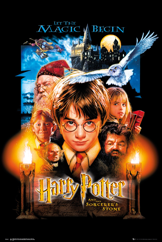 harry potter and the sorcerer s stone movie poster print us regular style size 24 x 36