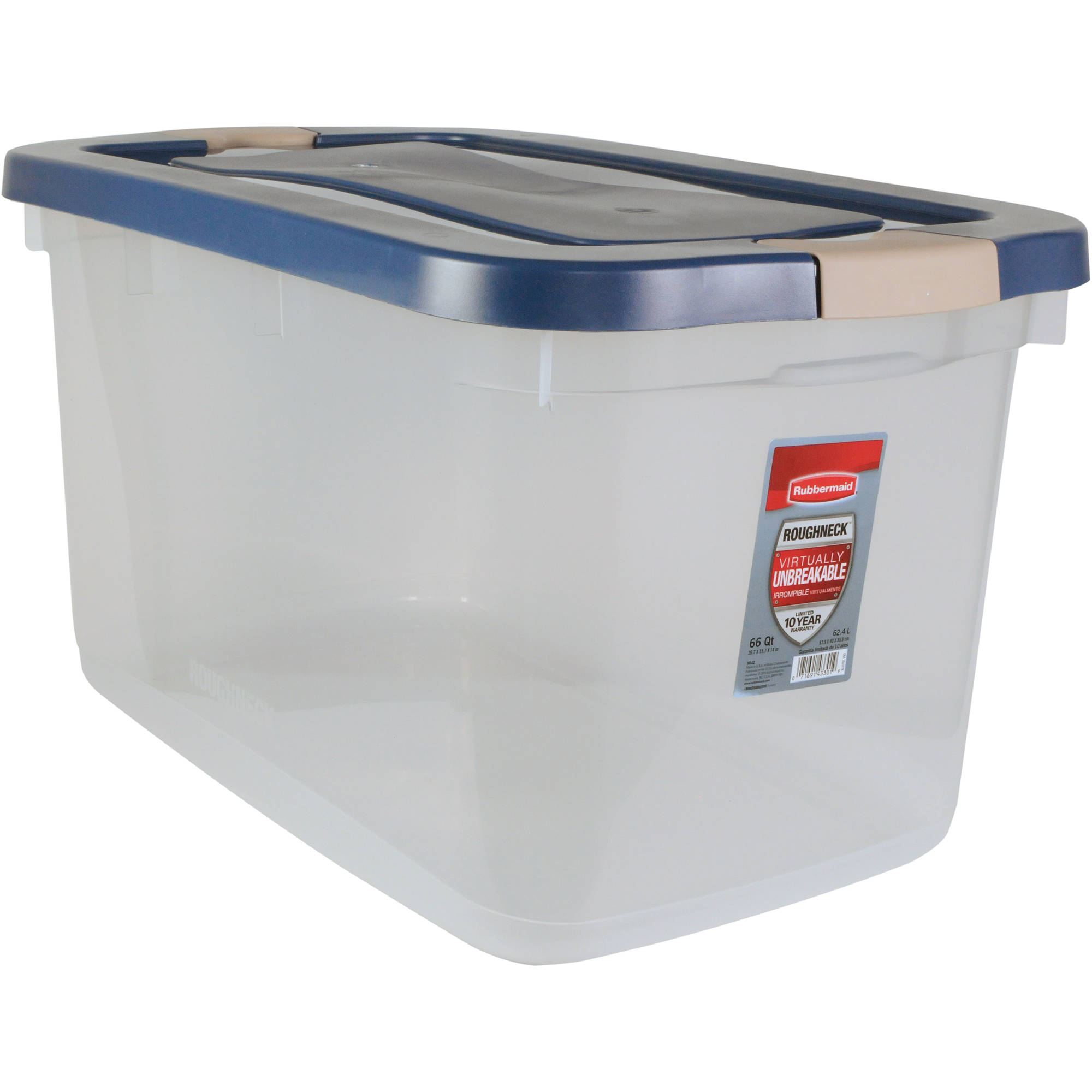 Best Kitchen Gallery: Rubbermaid Roughneck 66 Qt 16 5 Gal Clear Storage Tote Bin Clear of Plastic Storage Containers By Size on rachelxblog.com