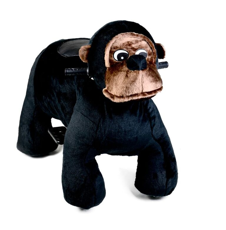 Motorized Plush Chimp Ride On Toy Coin Operated Electric