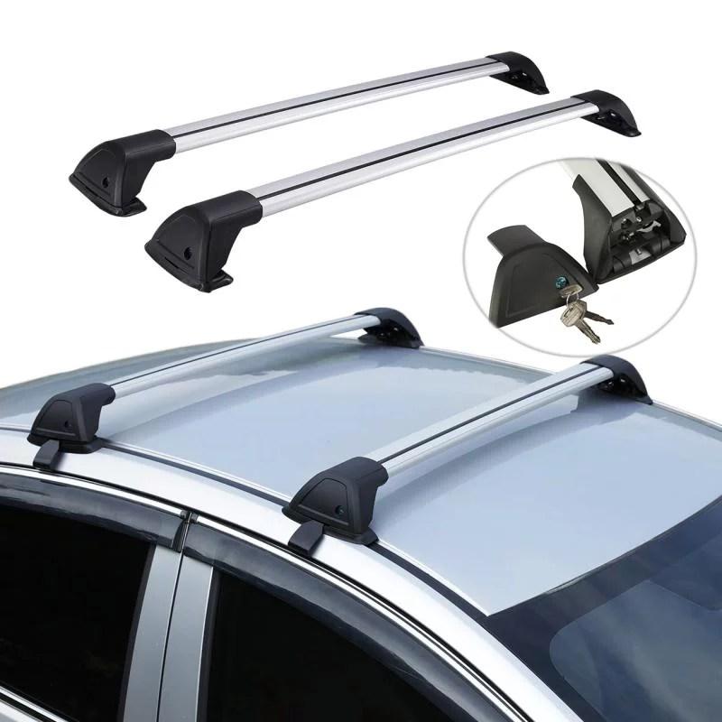 alavente adjustable 39 100cm length aluminum car roof rack cross bars car top luggage cargo heavy duty carrier aerofoil crossbars with anti thief