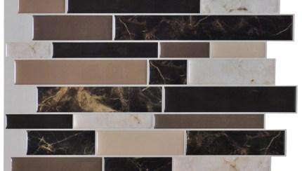 Art3d Black Brown And Beige Marble12 In X 12 In Vinyl Peel And Stick Wall Tile Backsplash 6 Pack Walmart Com Walmart Com