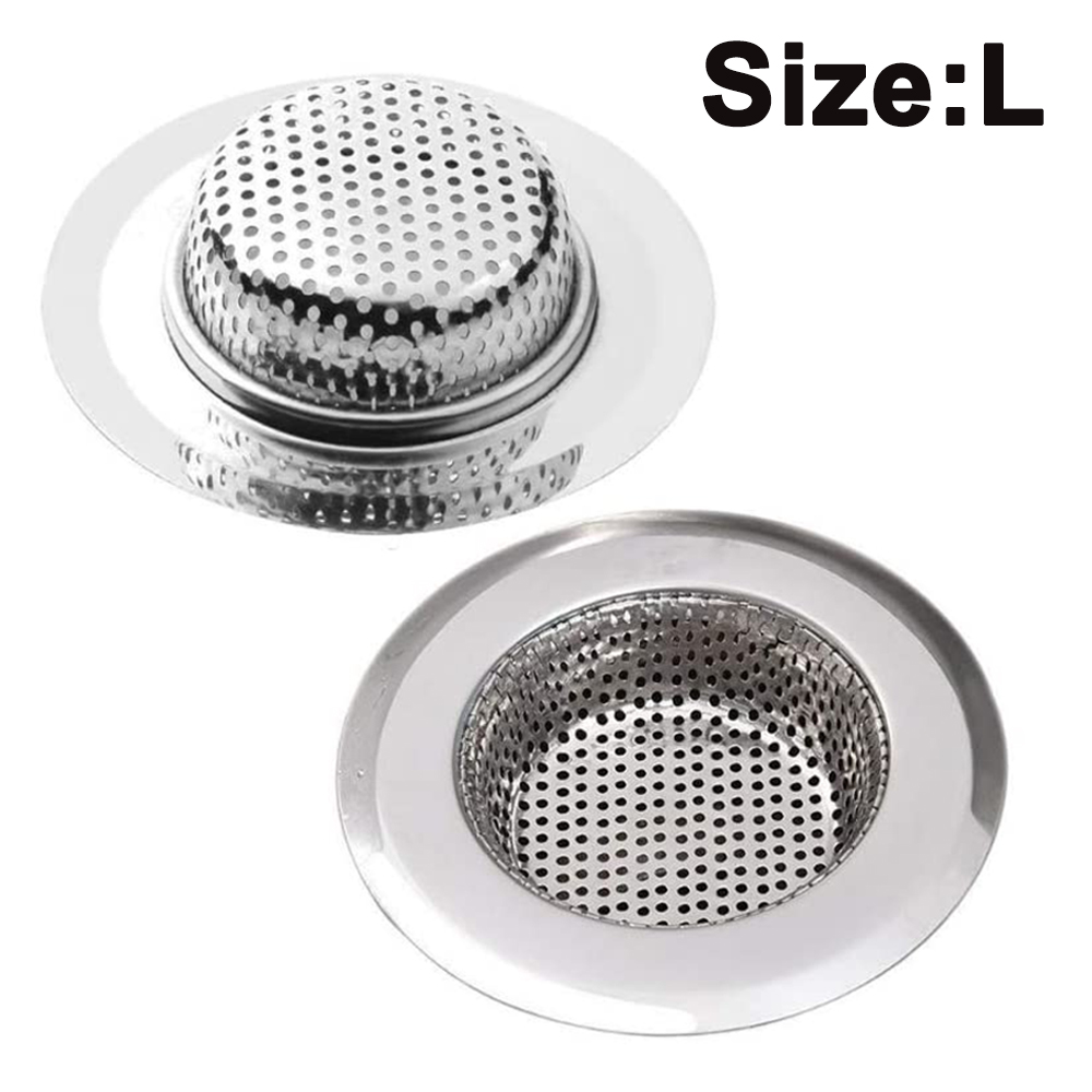 2 pcs kitchen sink strainer basket stainless steel sink drain filter kitchen tools and gadgets sink filter