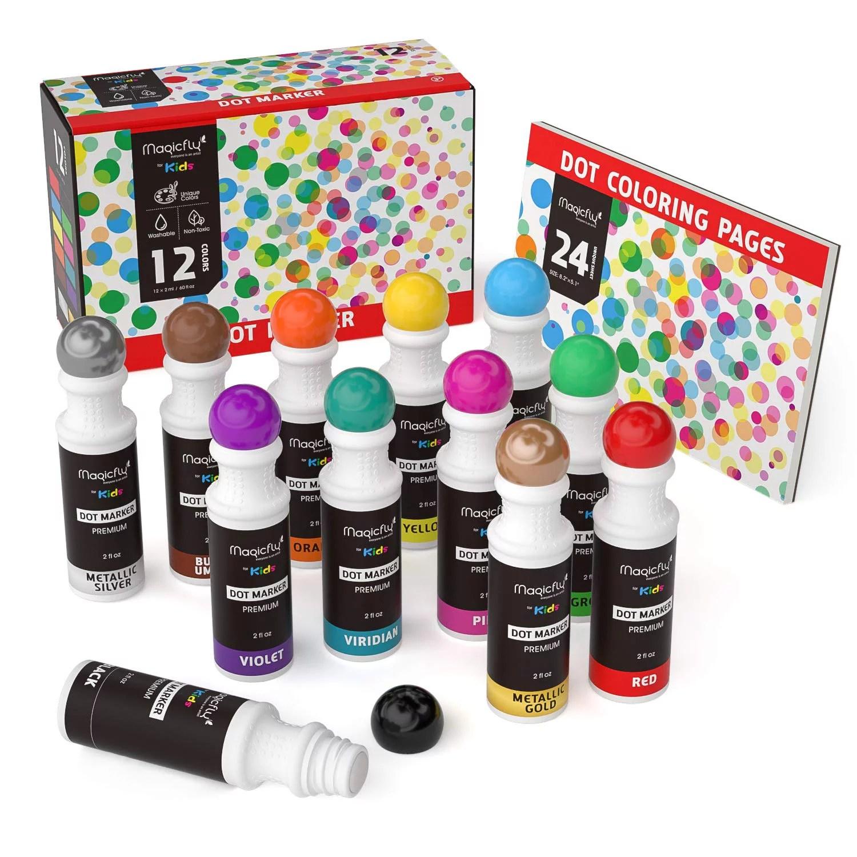 Washable Dot Markers Magicfly 12 Colors Bingo Daubers