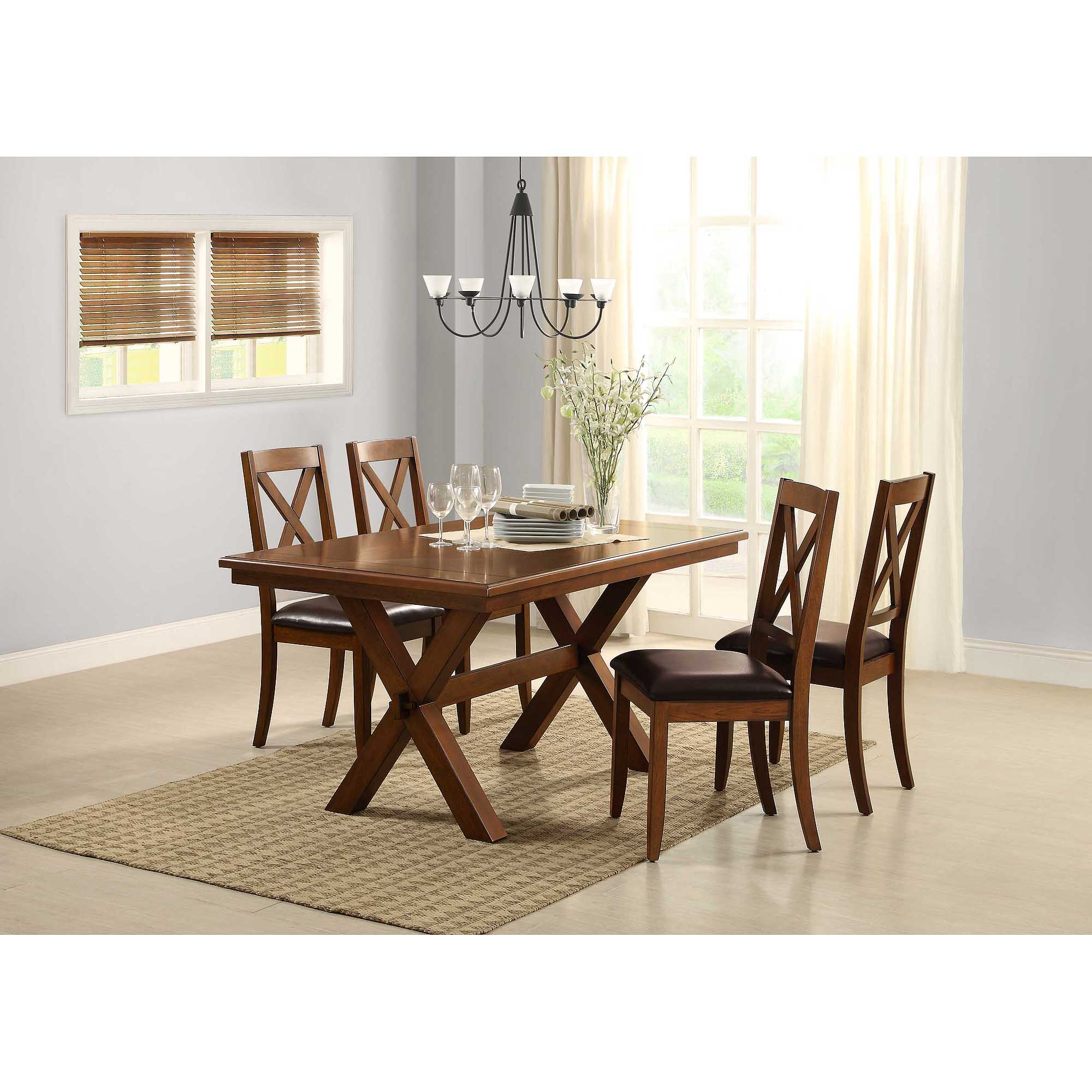 Best Kitchen Gallery: Better Homes And Gardens Maddox Crossing Dining Table Brown of Dining Chairs Walmart  on rachelxblog.com