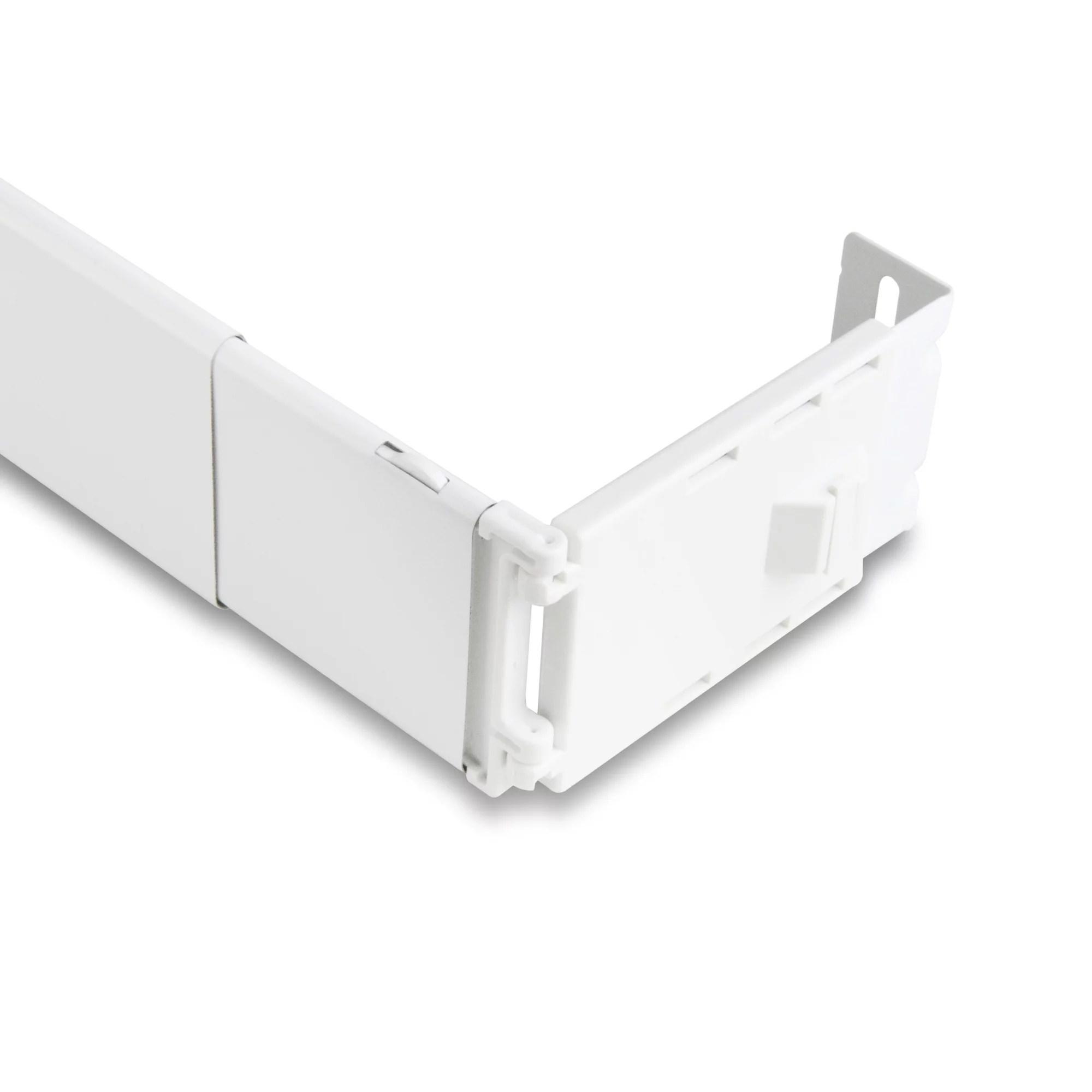 wide pocket curtain rod 84 156 inch white walmart com