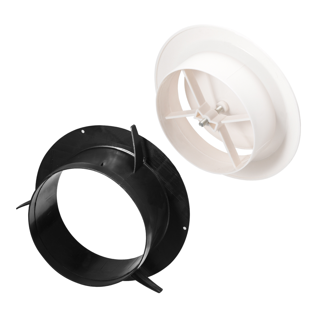 6 inch air vent circular abs white cover adjustable exhaust vent