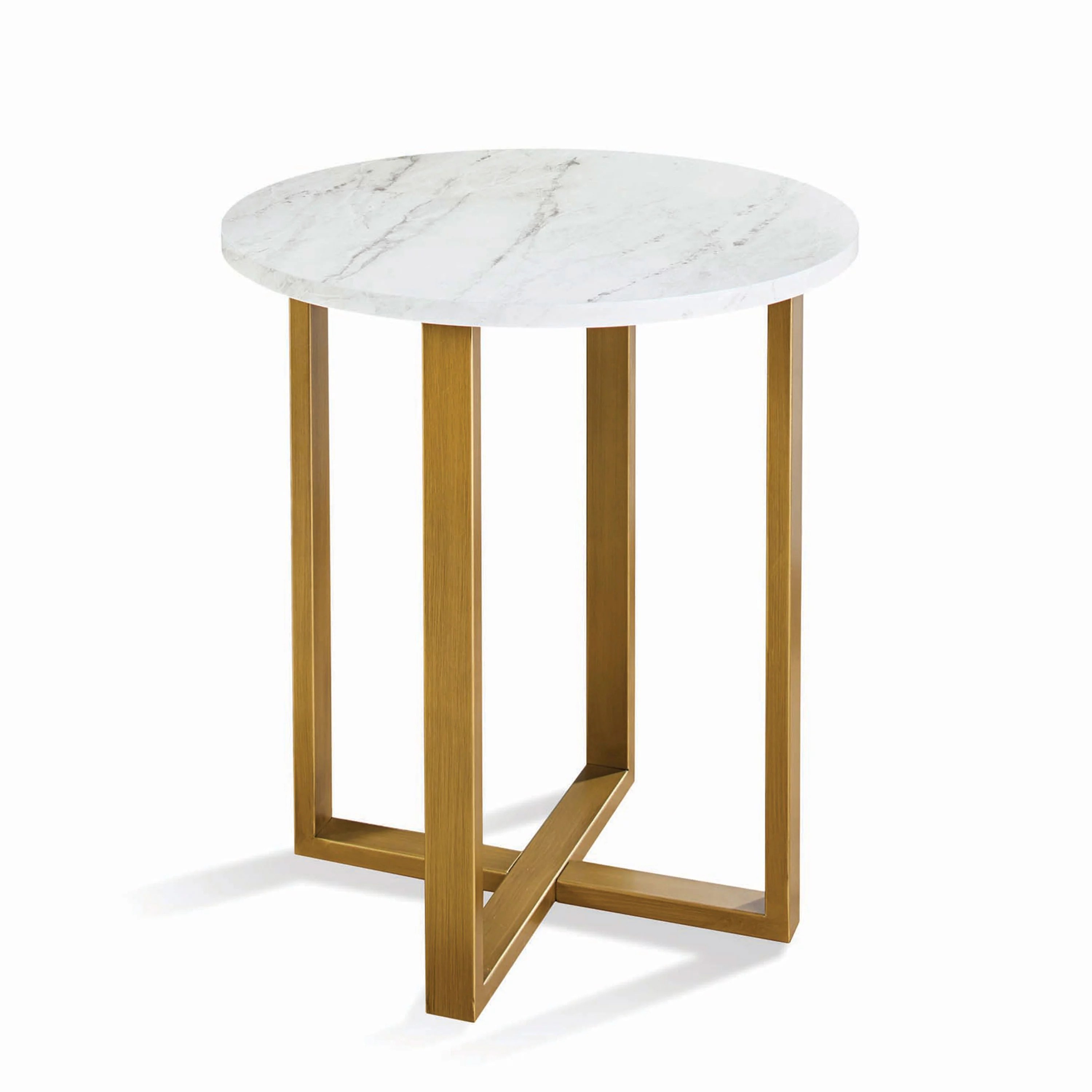 better homes gardens lana modern side table with faux marble top ideal for any room