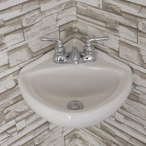 fine fixtures ceramic 15 corner bathroom sink
