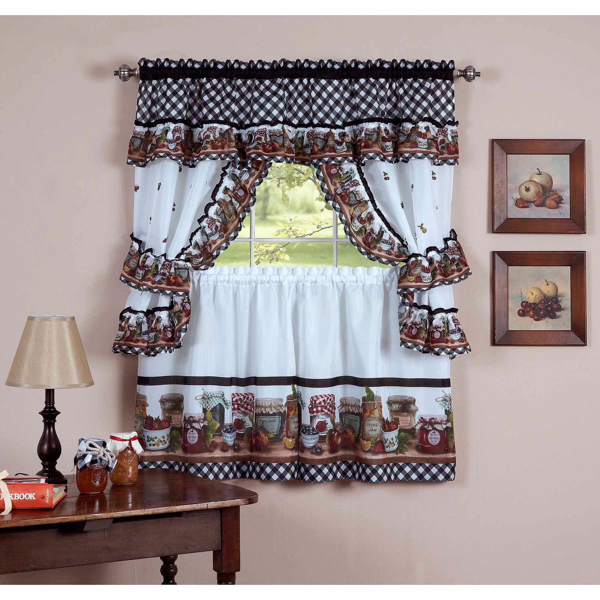 white kitchen curtains walmart com