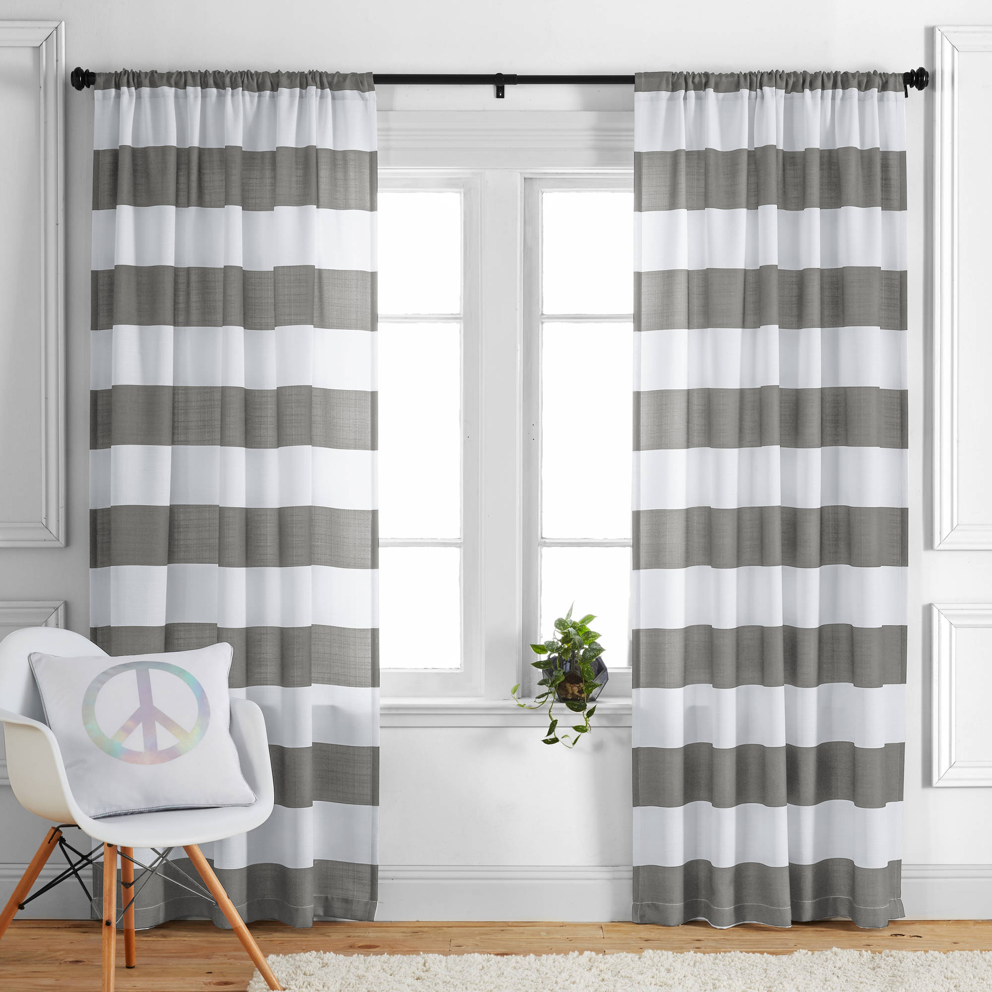 kids and teens stripes single curtain panel by better homes and gardens
