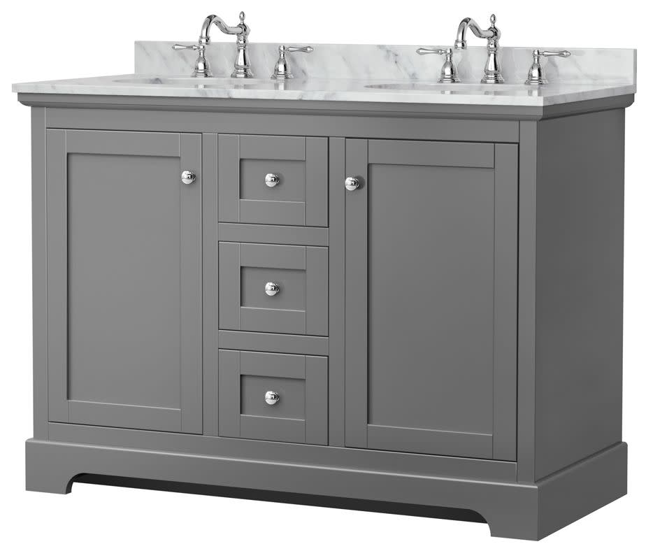 wyndham collection wcv232348dcmunomxx avery 48 free standing double basin vanity set