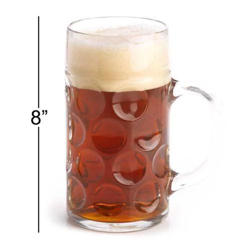 "Oktoberfest Haus ""Das Bier"" 1 Liter German Glass Beer Mug Ma&#223"