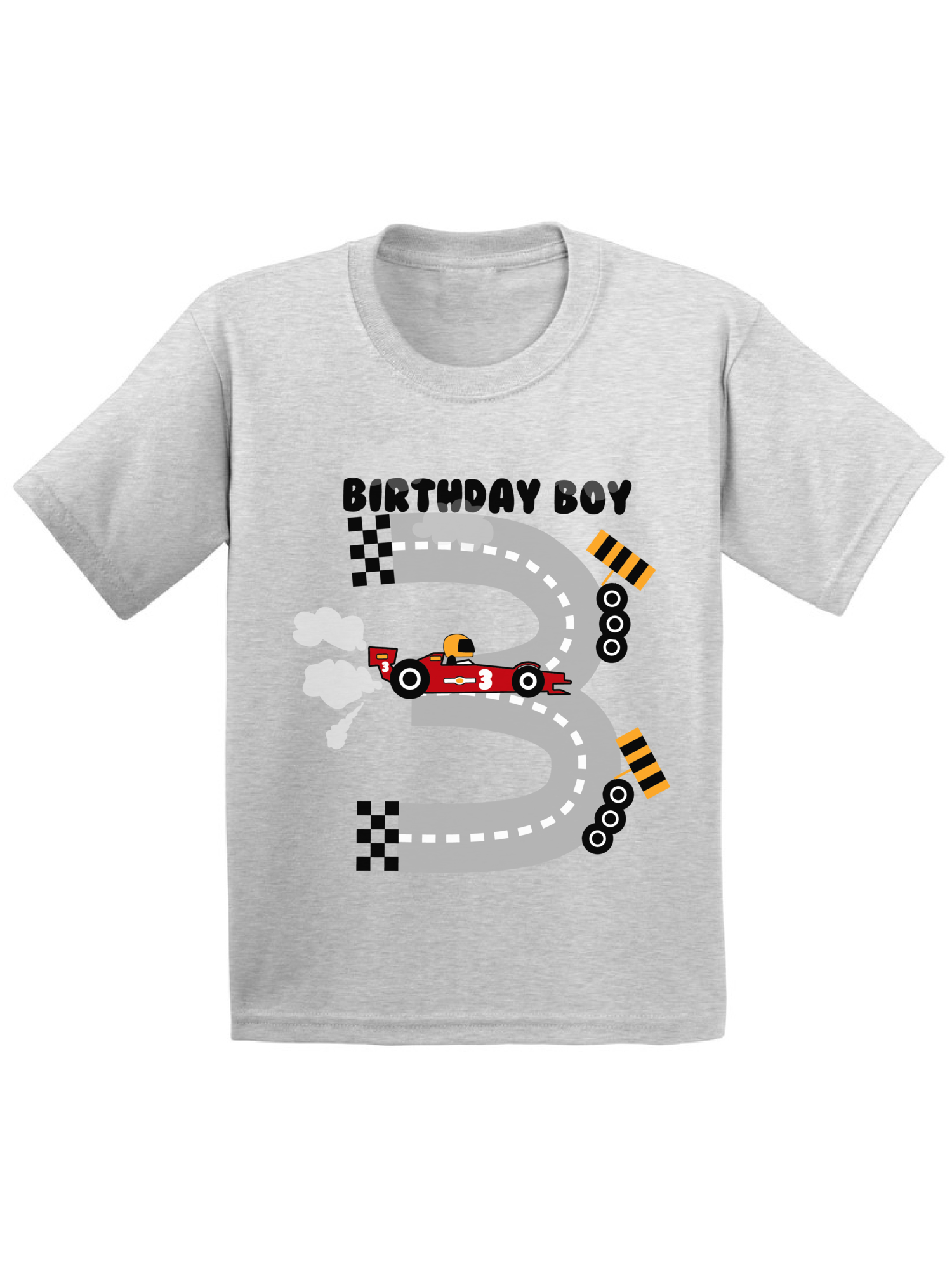 Awkward Styles Awkward Styles Birthday Boy Race Car Toddler Shirt Race Car Birthday Party For Toddler Boys Funny Birthday Gifts For 3 Year Old 3rd Birthday T Shirt Third Birthday Outfit