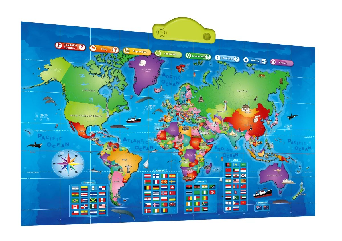 World Map Kids Interactive Map Of The World Educational