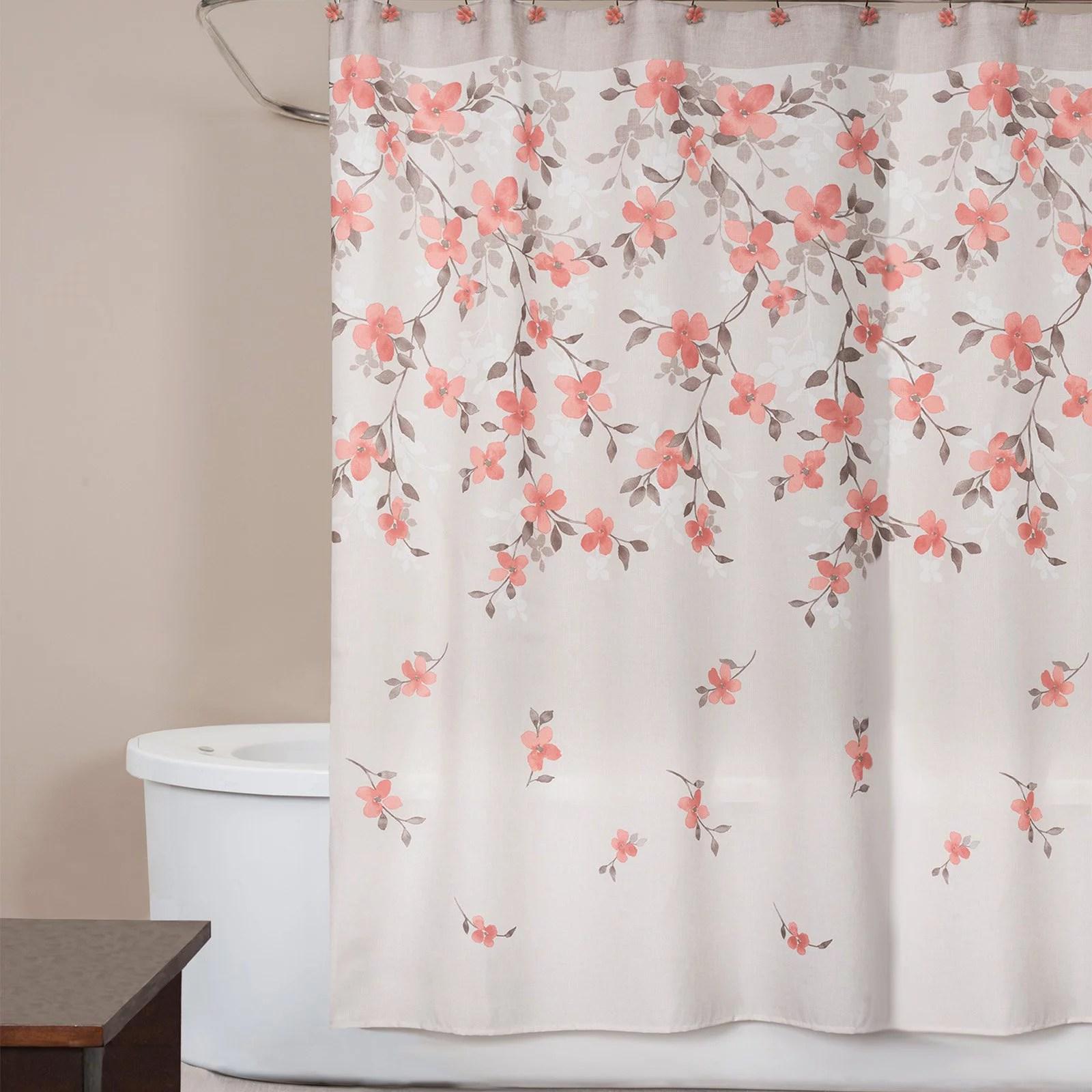 saturday knight coral garden floral shower curtain walmart com