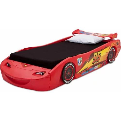delta children disney pixar cars lightning mcqueen plastic bed twin