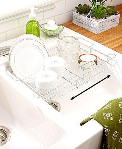 expandable sink rack chrome