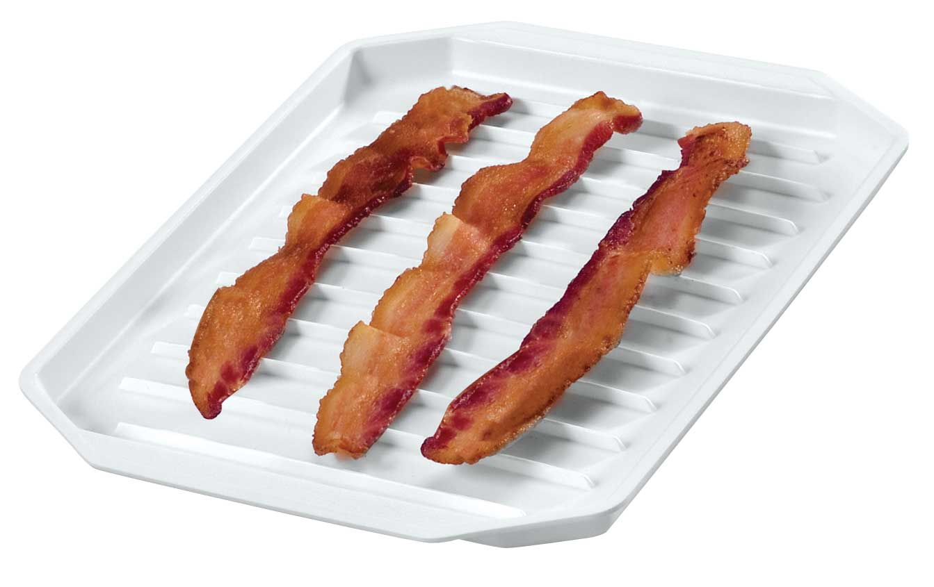microwave bacon platter
