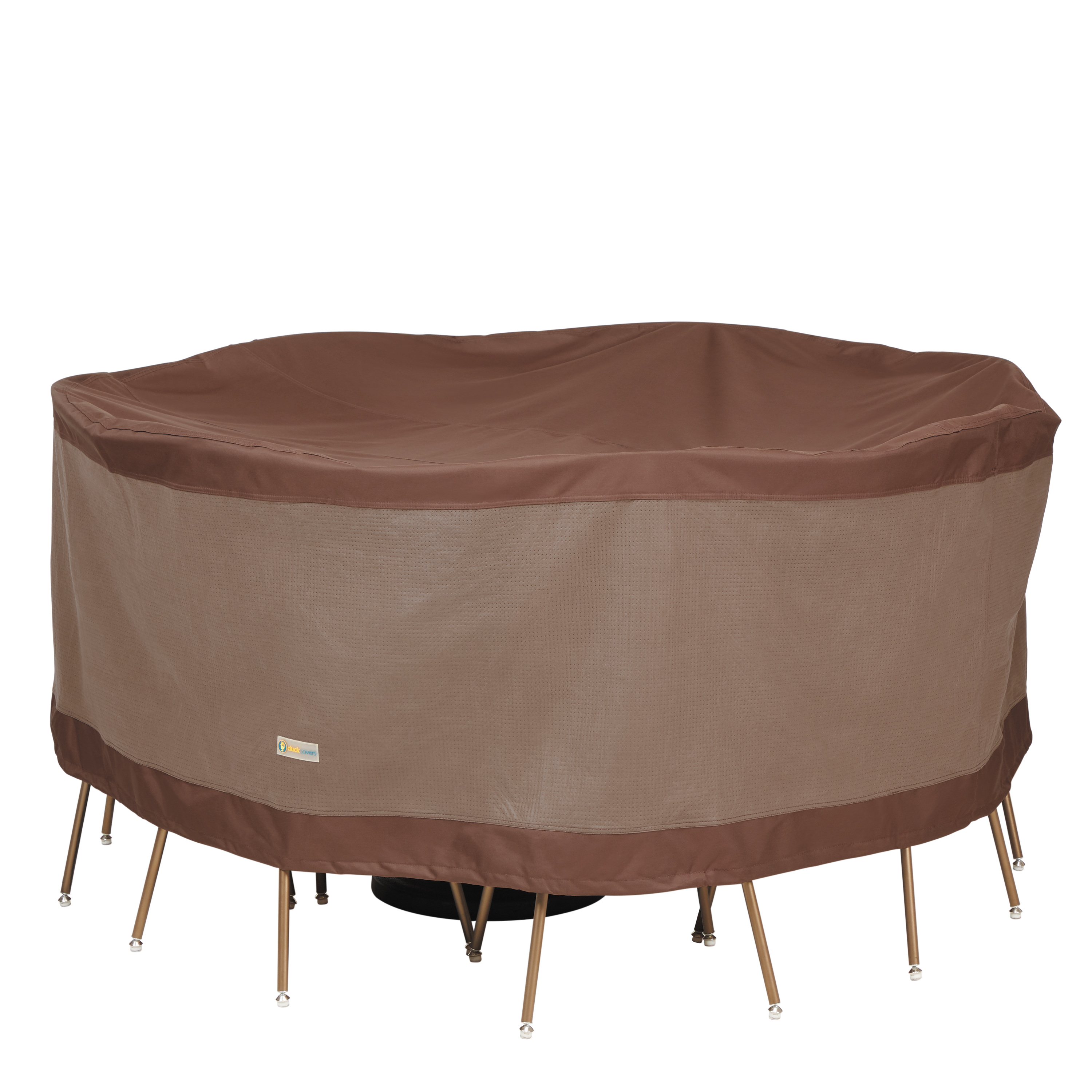 duck covers ultimate waterproof 72 inch round patio table chair set cover