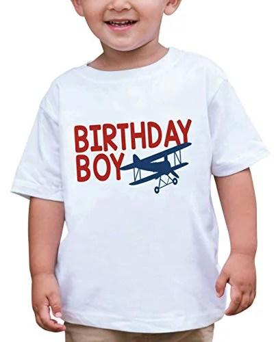 7 Ate 9 Apparel Boy S Birthday Boy Biplane Airplane T Shirt 3t White Walmart Com Walmart Com