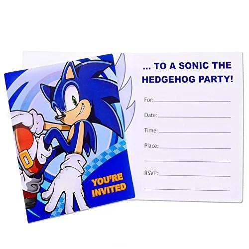 Birthday Express Sonic The Hedgehog Party Supplies Invitations 8 Walmart Canada