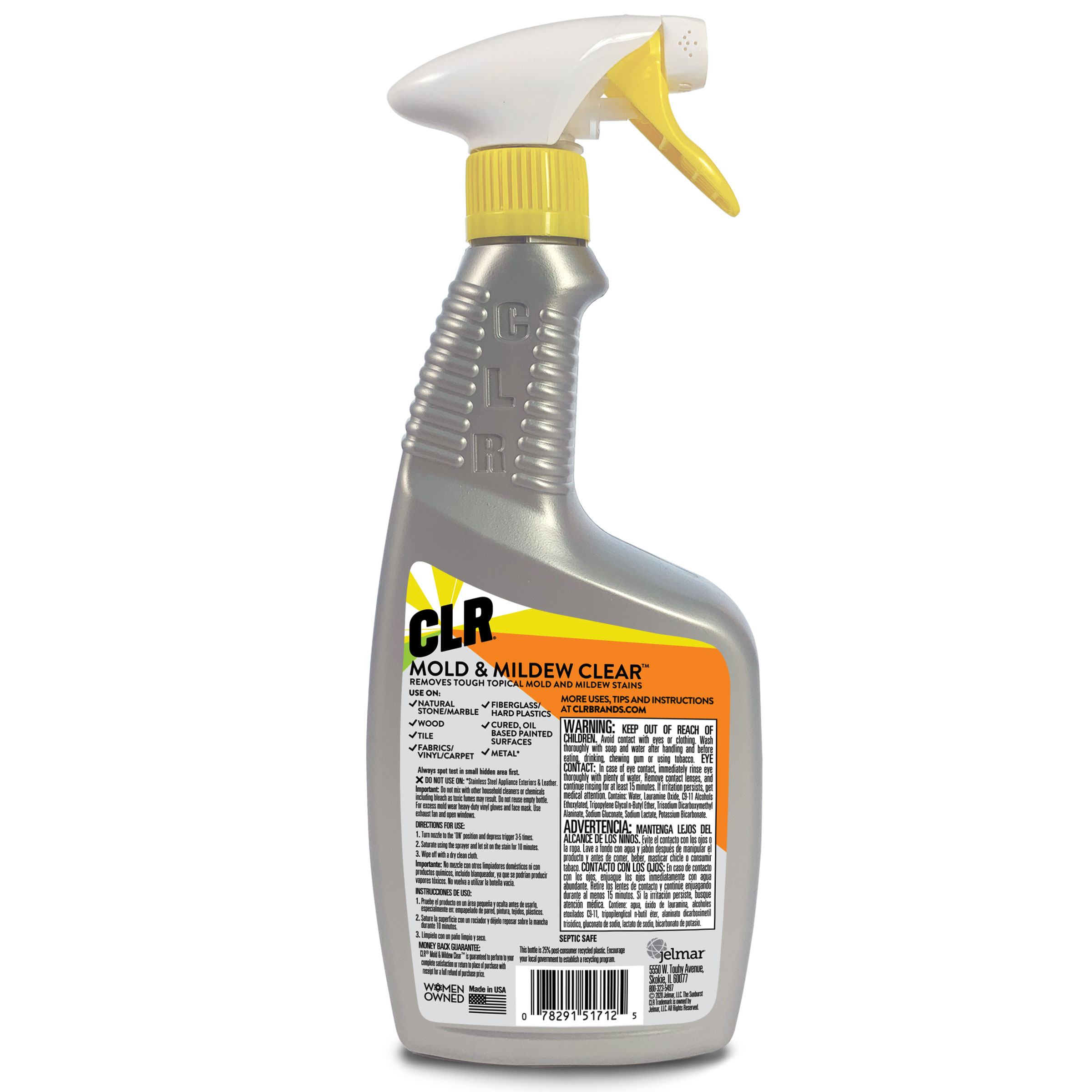 Walmart Grocery Clr Mold Mildew Clear Bleach Free Foaming Stain Remover Spray 32 Fl Oz
