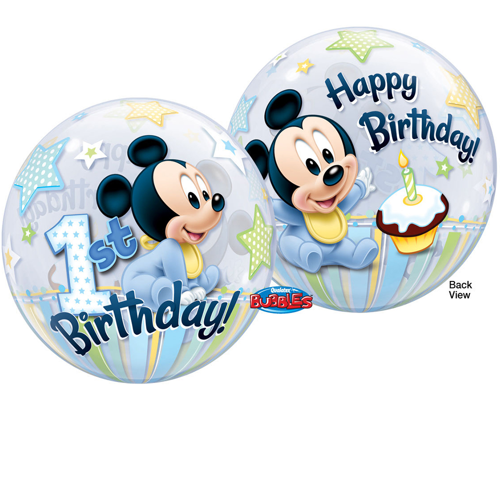 Feste Besondere Anlasse 22 Single Bubble Balloon Disney Baby Mickey Mouse 1st Birthday Mobel Wohnen Elite Eshop Eu