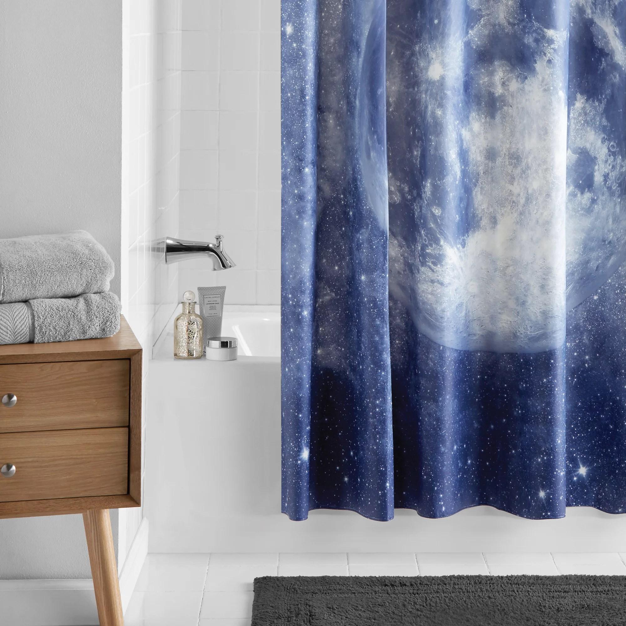 mainstays navy moon peva shower curtain 70 x 72