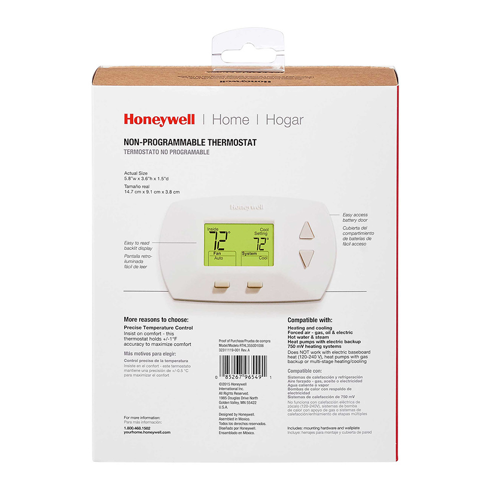 Honeywell Thermostat Th5220d1029 Wiring Diagram : Honeywell thermostat th d wiring diagram