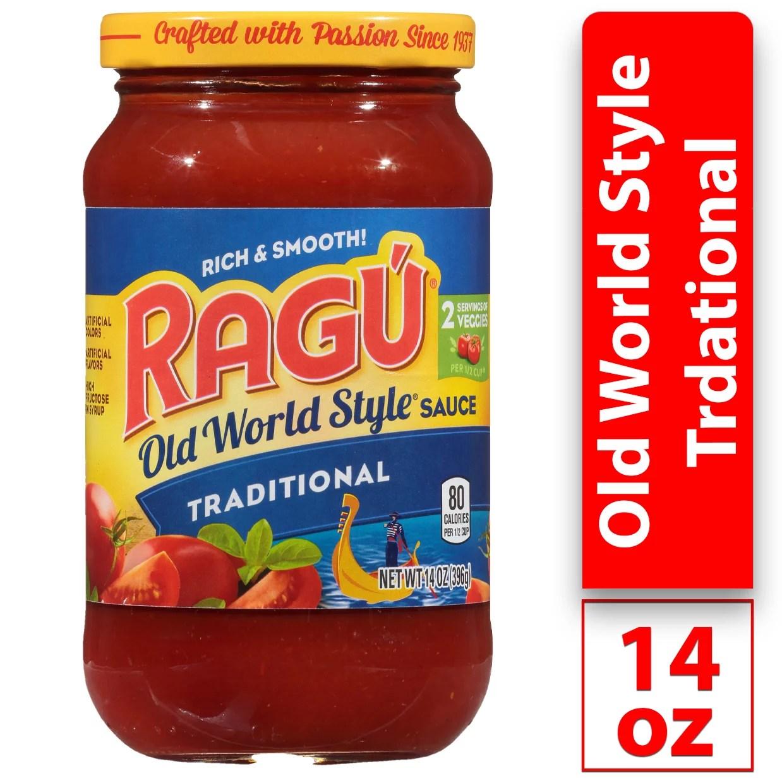 ragu old world style pasta sauce traditional 14 oz walmart com