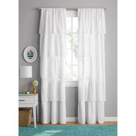 Your Zone Ruffle Girls Bedroom Curtain
