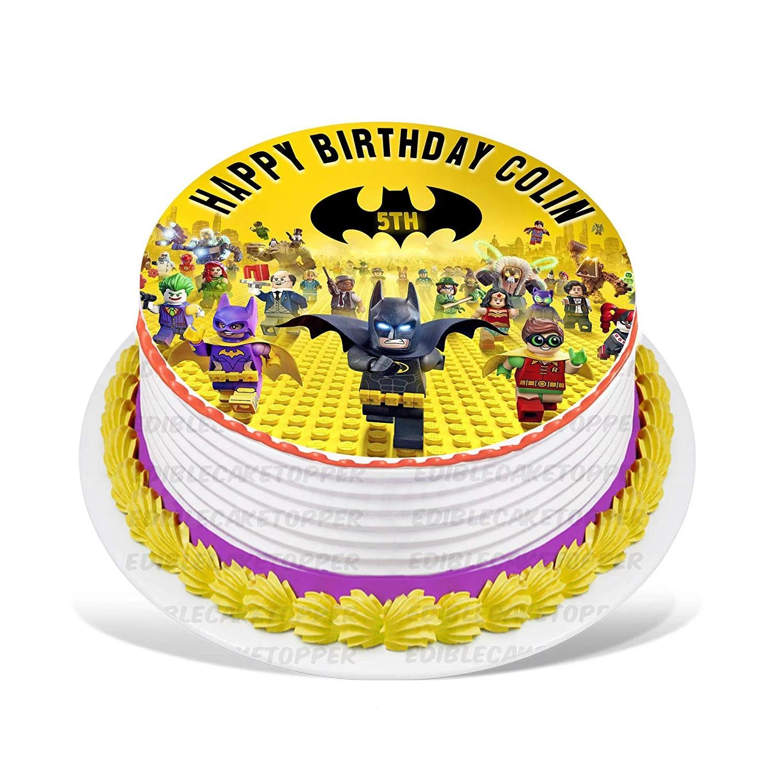 Lego Batman Edible Cake Image Topper Personalized Birthday Party 8 Inches Round Walmart Com Walmart Com